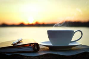 sunrise with coffee