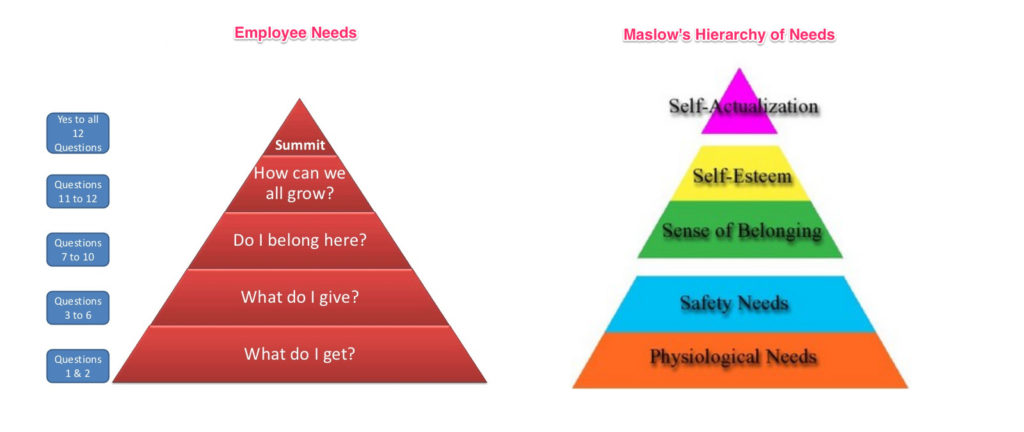 Employee Needs First Break All of The Rules Maslow's Hierarchy of Needs